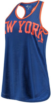 Game Time Women's G-III 4Her by Carl Banks Blue New York Knicks Tank Top