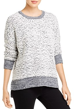 Cupio Textured Knit Long Sleeve High-Low Sweater