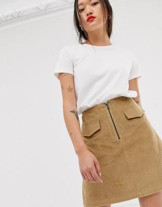 Levete Room cord mini skirt