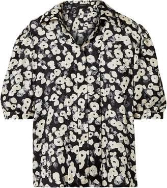 Derek Lam Printed Silk-jacquard Shirt