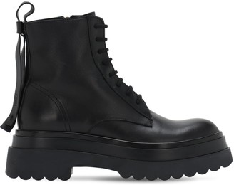 RED Valentino 40mm Leather Combat Boots