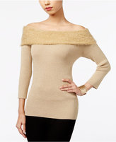 NY Collection Marilyn Off-The-Shoulder Sweater