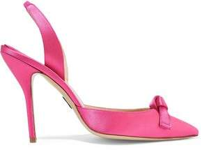 Paul Andrew Passion Knot Satin Slingback Pumps