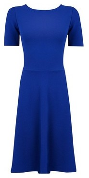 Dorothy Perkins Womens **Tall Blue Fit And Flare Dress