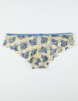 Blue Floral Lace Panties