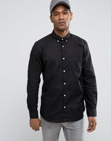 Jack and Jones Originals Linen Mix Long Sleeve Slim Fit Button Down Shirt