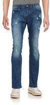 G Star Distressed Straight-Leg Jeans