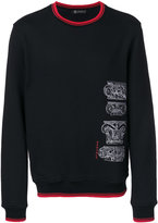 Versace baroque lettered sweatshirt