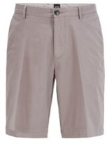 HUGO BOSS - Slim-fit shorts in stretch cotton with French pocket - Dark Blue
