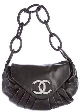 Chanel Pleated Ring Flap Bag