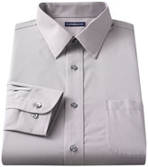 Croft & Barrow Slim-Fit Solid Broadcloth Point-Collar Dress Shirt