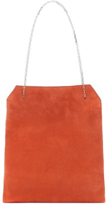 The Row Exclusive to Mytheresa Lunch Small suede tote