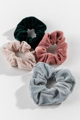 francesca's Rachel Velvet Scrunchie Set - Multi