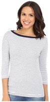 Three Dots Anne 3/4 Sleeve British Tee