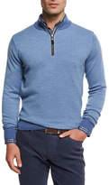 Peter Millar Merino Birdseye Quarter-Zip Pullover