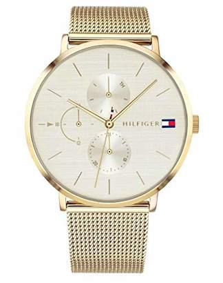Tommy Hilfiger Womens Multi dial Quartz Watch with Gold Plated Strap 1781943