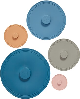 Five Two by Food52 Pack of 5 Assorted Airtight Silicone Lids