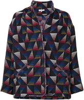 IRO short tribal coat - women - Cotton/Acrylic/Polyester/other fibers - 40