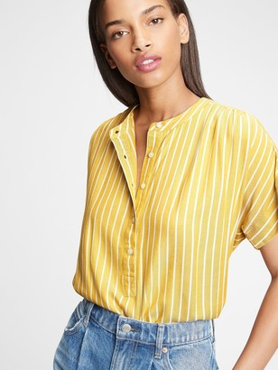 Gap Easy Shirred Popover Shirt