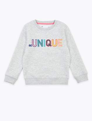 Marks and Spencer Be Unique Slogan Sweatshirt (2-7 Years)