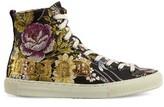 Gucci Women's Floral High Top Sneaker