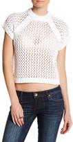 Tibi Knit Short Sleeve Pullover
