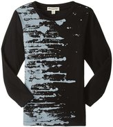 Appaman Fineline Paint Splatter Tee (Toddler/Kid) - Black - 6