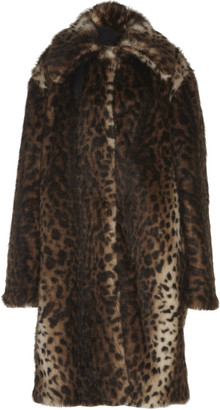 Rokh Leopard Faux Fur Coat
