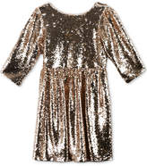 Speechless Sequinned Babydoll Dress, Big Girls