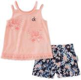 Calvin Klein 2-Pc. Top & Shorts Set, Toddler Girls