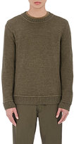 Simon Miller Men's Baby Alpaca Crewneck Sweater-DARK GREEN