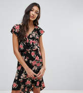 Oh My Love Tall Floral Frill Detail Pephem Dress