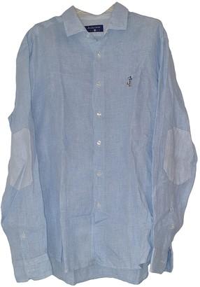 Non Signã© / Unsigned Turquoise Linen Shirts