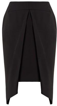 Roland Mouret Pan Draped-overlay Crepe Skirt - Black