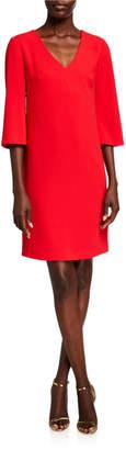 Trina Turk Malbec V-Neck 3/4-Sleeve Sheath Dress