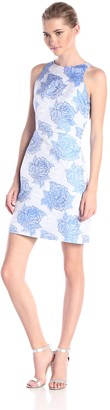 Adrianna Papell Women's Sleeveless Floral Print Dress