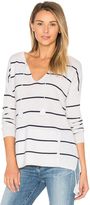 Autumn Cashmere Tassel Striped Baja Sweater