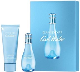 Davidoff Cool Water For Women 30ml Eau de Toilette 75ml Body Lotion Gift Set