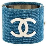 Chanel CC Denim Cuff Bracelet