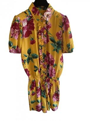 Dolce & Gabbana Yellow Silk Jumpsuits