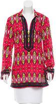 Tory Burch Patterned V-Neck Dress