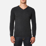 Barbour Essential Lambswool V Neck Knitted Jumper Charcoal