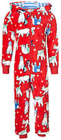 John Lewis Children's All-Over Polar Bear Onesie, Multi