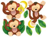 Wallies Baby Monkeys Peel & Stick Wall Decals