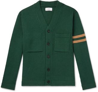 Mr P. Striped Merino Wool Cardigan