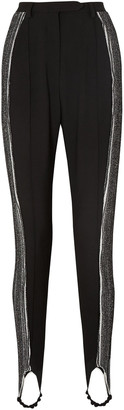 Ellery Resolution Cady And Ribbed-knit Stirrup Pants