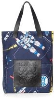 Loewe Galaxy-print Leather-handle Tote