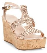 Kate Spade Tianna Leather Platform Wedge Sandals