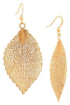 Nobrand No Brand Women's Open Leaf Dangle Earring - Gold