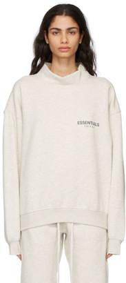 Essentials Grey Mock Neck Pullover Sweatshirt